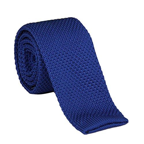 penagy Klassische Krawatte Mesh Strick Abend Neuer Energetik verwirklichen Hochzeit Zeremonie Deko Party Kostüm Necktie Für komplett 145cm mehrfarbig Optische Blau blau 145cm