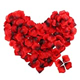100 stücke Künstliche Rosenblätter, TheBigThumb Silk Rose Blütenblätter Hochzeit Tisch Konfetti Braut Party Dekoration Bridal Shower Favor Mittelstücke