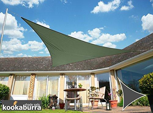 Kookaburra Voile d'Ombrage Imperméable 3,0m Triangle Vert Menthe