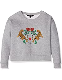 New Look Tiger Floral Front Logo, Sweat-Shirt Fille