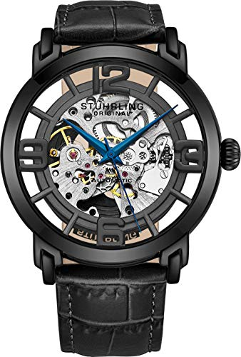 Stuhrling Original Herren Armbanduhr Winchester Analog Automatik 165B2.335569 (Stuhrling Herren Skelett)