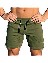 Rera Herren Sommer Sport Hose kurz Sportswear Schnell Trocknend Shorts  Casual Trainingshorts Jogging Hose Bermuda Kordelzug 5e2cbfcace