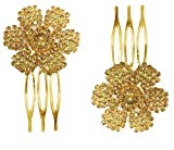 #4: AccessHer: Trendy Indo Western, Wedding and Party Wear, Fancy Golden Hair Accessories: Hair Clip/ Side Pin/ Comb Pin/ Jooda Pin For Girls And Women