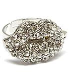 Diseño de labios de kiss de cristal transparente de pulsera para mujer con de moda anillo perfecto para vestir