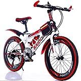 WGXQY Vélo pour Enfants Cross-Country Variable 20 Pouces 22 Pouces Étudiant Vélo Vélo Pliant, avec Bouilloire, Cadeaux De Noël pour Les Garçons Et Les Filles,A,22inch