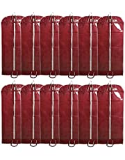 Kuber Industries Non Woven 12 Pieces Long Suit Sherwani Cover (Maroon),CTKTLUG402