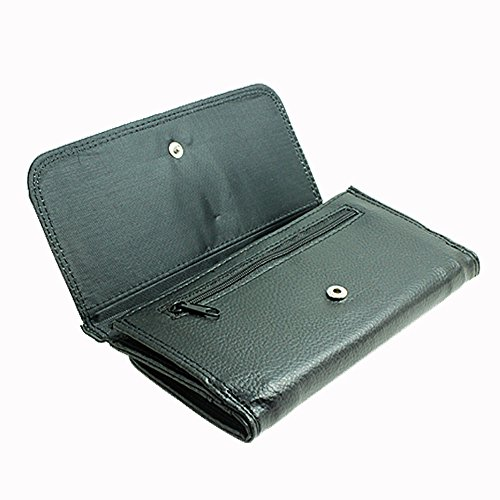 Image of Large Faux Leather Wallet with card slot // M00154906 Birch Bark Texture Light Plen?¡¥nka // Large Size Wallet