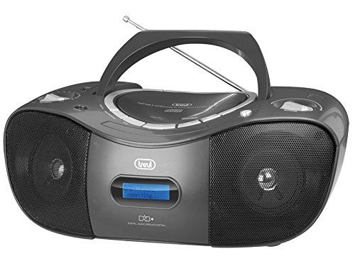 Trevi CMP 582 DAB Stereo Portatile con MP3, USB, CD e Radio Digitale DAB, Nero