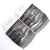 8x schwarz matt 7cm Haarkämme/Seite Kämmen/Hair Grips