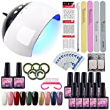 Saint-Acior UV Nagellack Soak off Nail Gel Polish Starterset UV Nagelstudio Gel-Lack Set Profi UV/LED Lampe Gelnägel Set