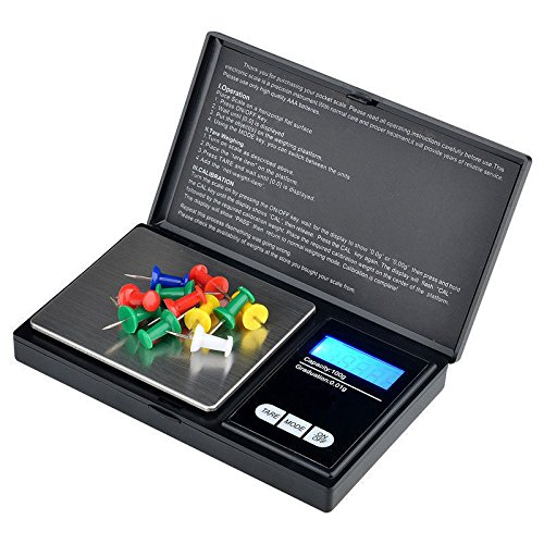 Tech Traders TTDS - Báscula digital portátil con pantalla LCD retroiluminada, color negro