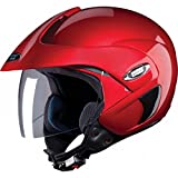 Studds Marshall Open Face Helmet (Cherry Red)