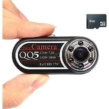 Mengshen 8GB HD 1080P 720P Cámara mini cámara DV activado por movimiento con la visión nocturna MS-QQ5C