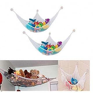 aohang Spielzeug Aufbewahrungsnetz Spielzeug Hängematte Net Organisieren Stofftiere, 5Größe, Polyester, 80*60*60CM