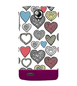 Fabcase love frames mosaic designs patterns Designer Back Case Cover for Lenovo S820