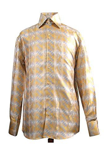 Sunrise Outlet - Chemise habillée - Avec boutons - Homme Jaune - Moutarde