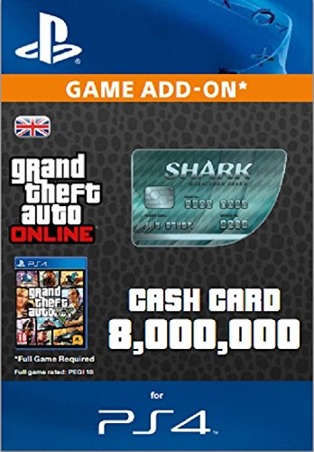 Grand Theft Auto Online | GTA V Megalodon Shark Cash Card | 8,000,000 GTA-Dollars | PS4 Download Code - UK account