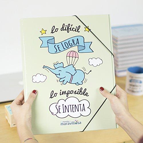 La mente es maravillosa-Carpeta original-Regalo para amiga con dibujos-CERDIF/ES