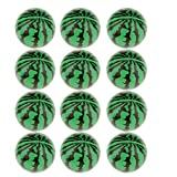 Imported Pack of 12 Solid Watermelon PU Sponge Ball Stress Relief Kids Party Pet Toy