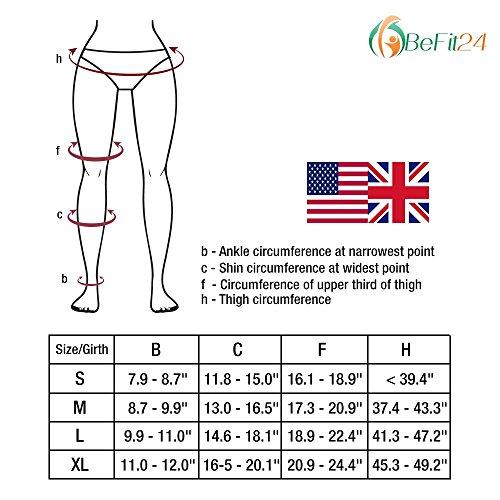 ®BeFit24 Medizinische Premium-Kompressions-Strumpfhose für Frauen (23-32 mmHg) - Schnelle Reduktion von Schwellungen - Krampfader-Strumpfhosen - Class 2 -