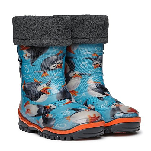 Duna Ast Multicolour Printed Kids Wellies (Boys and Girls Wellington Boots). Size 6/7/8/8.5 Child UK. Blue/Yellow/Pink/red/Black/Orange