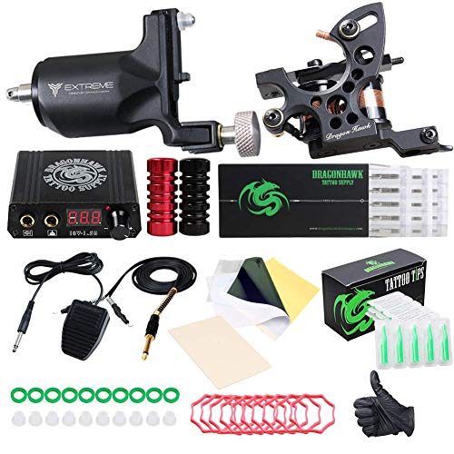 Dragonhawk Extreme Tattoo Kit 2 Pro Tattoo Machines