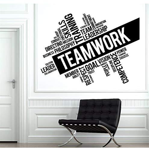 Hlonl Palabras De Trabajo En Equipo Etiqueta De La Pared Equipo De Oficina Espacio Cita Inspiradora Vinilo De Pared Teamworks Mural De La Pared Ofiice Decoración 78 * 57 Cm