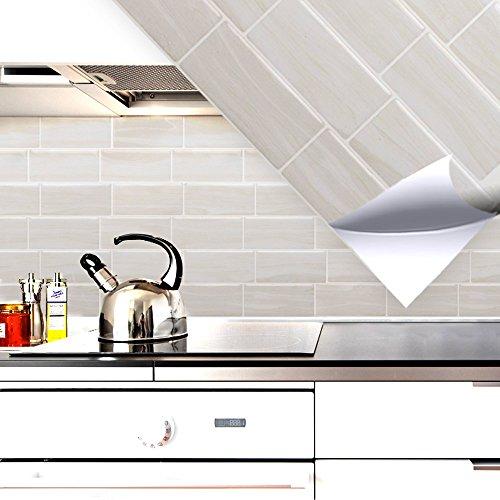 4 set 28,6 x 25,3 cm grandora mosaico 3d adesivo per piastrle w5416 autoadesivo cucina bagno adesivo da muro decorazione piastrelle pellicola bianco crema