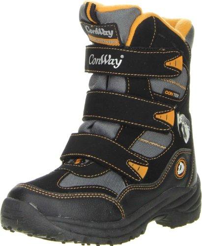 Mädchen 13 Größe Stiefel (ConWay Kinder Winterstiefel Snowboots (03-7607) schwarz,)