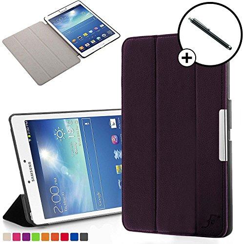 Forefront Cases® Samsung Galaxy Tab 3 8.0 Hülle Schutzhülle Tasche Bumper Folio Smart Case Cover Stand - Ultra Dünn Leicht mit Rundum-Geräteschutz und intelligente Auto Schlaf / Wach Funktion inkl. Eingabestift (VIOLETT)