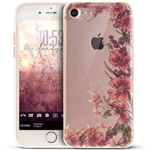 Cover iPhone 7,Cover iPhone 7,Custodia iPhone 7 Cover,ikasus® iPhone 7 disegno colorato TPU con viti retro Custodia Cover [Crystal TPU] [Shock-Absorption] Protettiva Trasparente Ultra Sottile Silicone Gel Cover Custodia chic disegno colorato Clear Case Super Sottile Bumper Case Custodia Cover per Apple iPhone 7 - viti retro