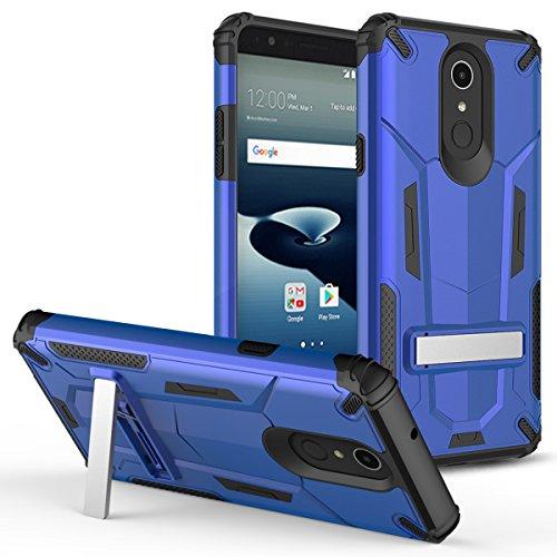 luckiefind Kompatibel mit Galaxy J3(2018) J337/Galaxy Amp Prime 3/Galaxy J3Erreichen/Galaxy J3Star, Premium Hybrid Dual Layer Fall mit Ständer Fall, Stand Blue Samsung Blue-faceplates