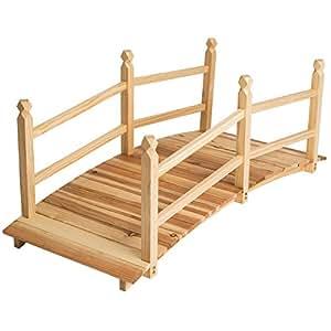 Tectake pont de jardin pont d 39 tang passerelle en bois env - Pont de jardin en bois ...