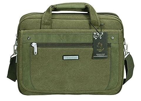 VIDENG POLO Laptop Bags Extended 15.6 inches Briefcase Business Shoulder Bag Mens Handbag (C2,
