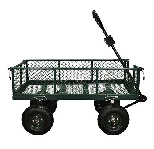 Selections Garten-Rollwagen, ideal für Festivals, Campen und Garten, Abfallbeseitigung, klappbar für einfaches Laden, auch für abseits der Wege, Reifen und Lenkung