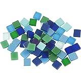Mini-Mosaik, Größe 5x5 mm, Blau/Grüntöne, 25 g