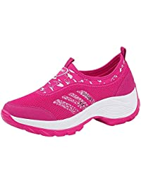 OSYARD Baskets Mode Chaussures de Course Femme Basket de Sport Running Sport Mesh Respirant Entraînement Jogging Outdoor Shoes