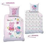 Peppa Pig CTI Reversible Cama Renforce Peppa Pig · de Cama Infantil para niña · Rosa, Blanco · Peppa &...