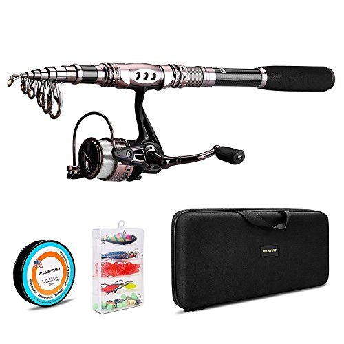 PLUSINNO Spinning Rod and Reel Combos KIT COMPLET Canne...