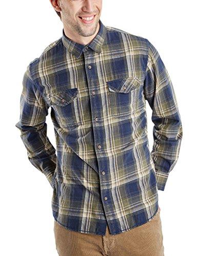 Pioneer Herren Regular Fit Freizeit Hemd Men Shirt, Gr. Medium, Grün (gray olive 644) Preisvergleich
