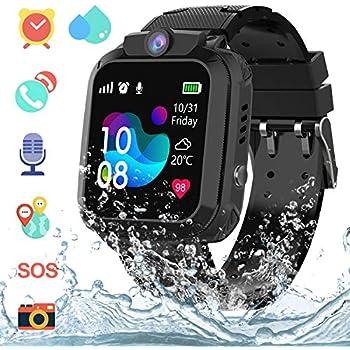Bojie Smartwatch Niños IP67 Impermeable - AGPS LBS Tracker Localizador Reloj Inteligente Niños, Smartwatch Niña con Cámara SOS Chat de Voz Juego ...