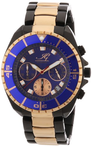 Ingraham - IG SYRA.1.618465 - Montre Homme - Quartz Chronographe - Chronomètre - Bracelet Acier Inoxydable Plaqué Multicolore