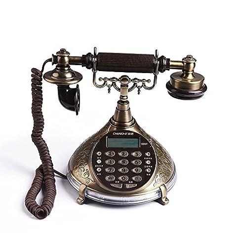 Téléphone antique, nouvelle mode rétro, Continental home, Bronze,téléphone fixe