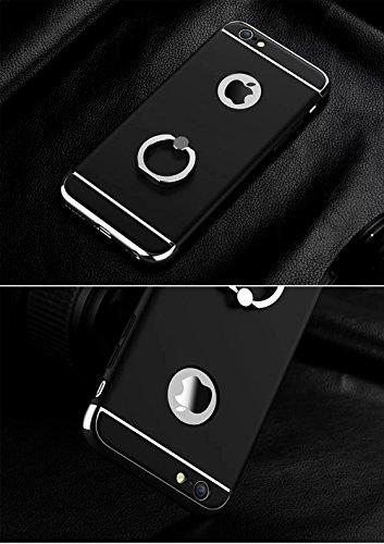 Vandot 1X Exclusive Unsichtbar Ultra Slim Dünn 0.9 MM Hart abziehbar Bumper für iPhone 6 6S 4.7 Zoll Rahmenschutz Hülle Glitzer Case Rückseite Bling Kristall Harte Hard Schale Tasche Etui Matt Air Pla Schwarz
