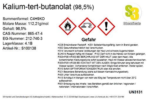 S3 Chemicals Kalium-tert-butanolat (min. 98,5%) Gebindegröße 100g