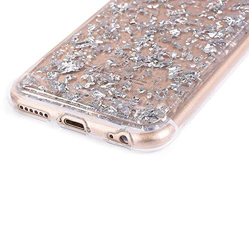 """Housse pour Apple iPhone 6Plus/6sPlus 5.5""""(NON iPhone 6/6s 4.7""""), CLTPY 3D Coloré Scintillement Placage Bordure Case, Ultra Léger Mince Hull de Protection Absorption des Choques pour iPhone 6Plus,iPho Argent"""