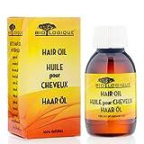 Premium Haaröl aus 12 Pflanzenöle 100% natürlich - von Biologique - Beste Haaröl für alle Haartypen - 100 ml/3.4 oz. Haarkappe enthalten.