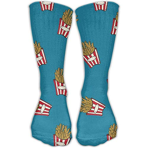 ruishandianqi French Fries Novelty Cotton Crew Socks Casual Ankle Dress Socks for Men&Women