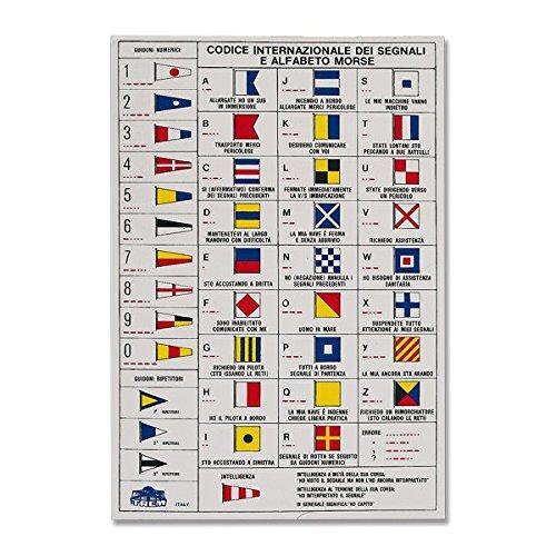 Adesivo codice bandiere con codice morse lingua inglese accessori nautica