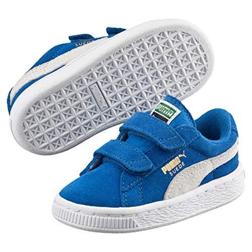 Puma Unisex-Kinder Suede 2 Straps PS Low-Top, Blau (Snorkel Blue White 02), 33 EU (Suede Shoes Kinder-blue)